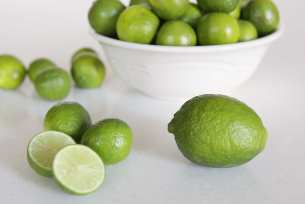 Let's start by talking about key limes. They're much smaller than common (Persian) limes. They're more acidic and citrus-y than the larger, Persian variety, and the experts say not to substitute the two, but I'll confess that I've done it, with this very recipe. Key limes are better, but I can't always get them. Use the key limes, if you can.