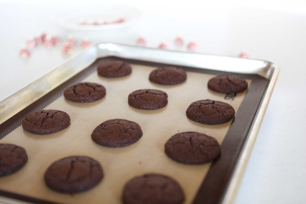Let cookies cool on baking sheet for 3 minutes.