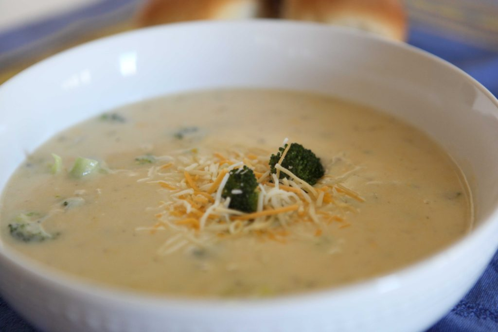 Simple Broccoli Cheddar Soup
