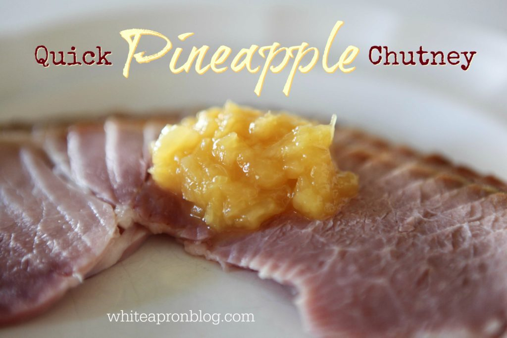 Quick Pineapple Chutney