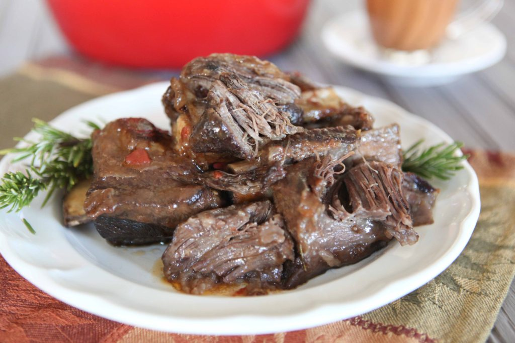 Red Wine and Rosemary Braised Short Ribs