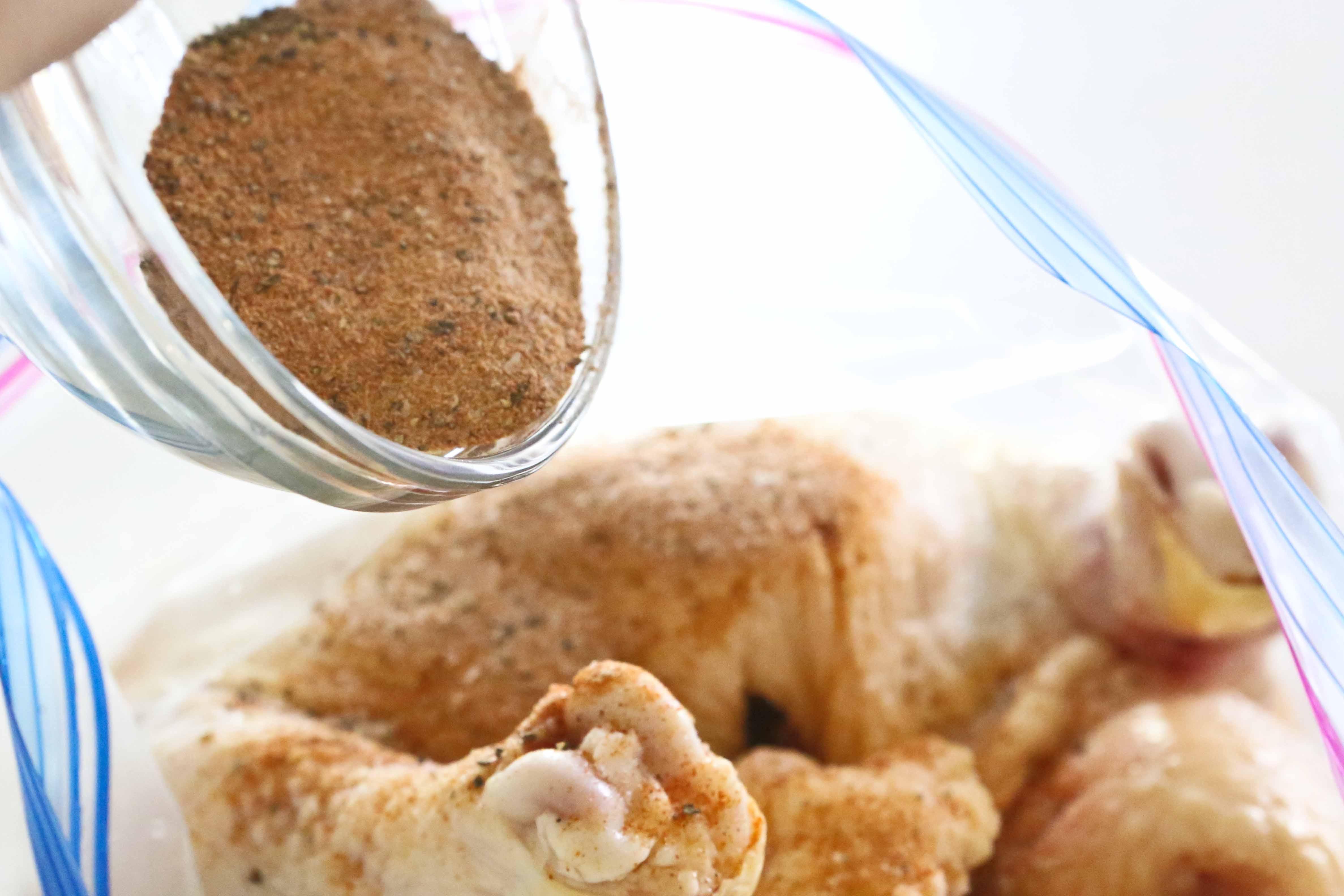 Roasted Chicken in seasonings