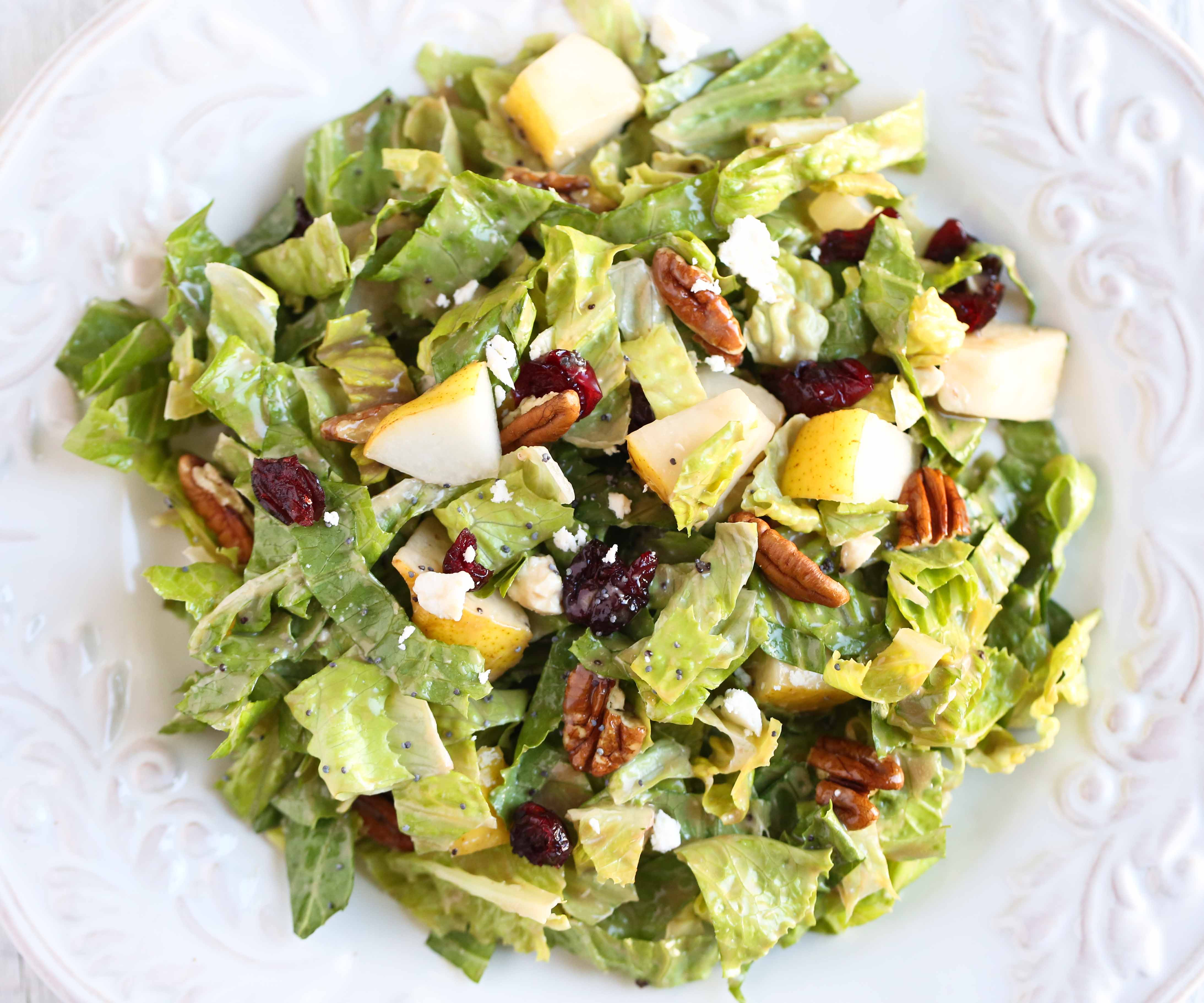 Autumn Salad with Creamy Balsamic Dressing