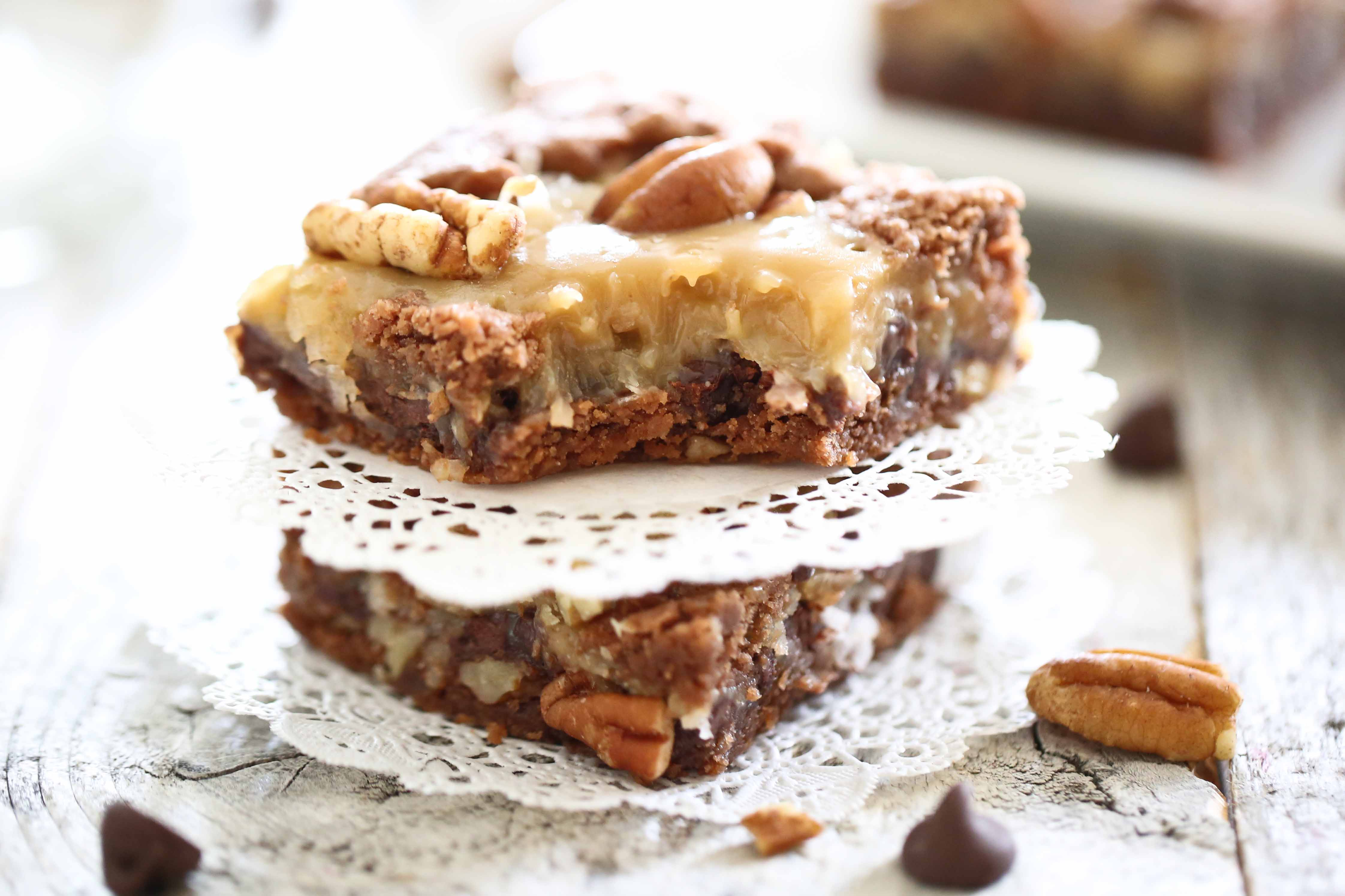 Caramel Filled Brownies