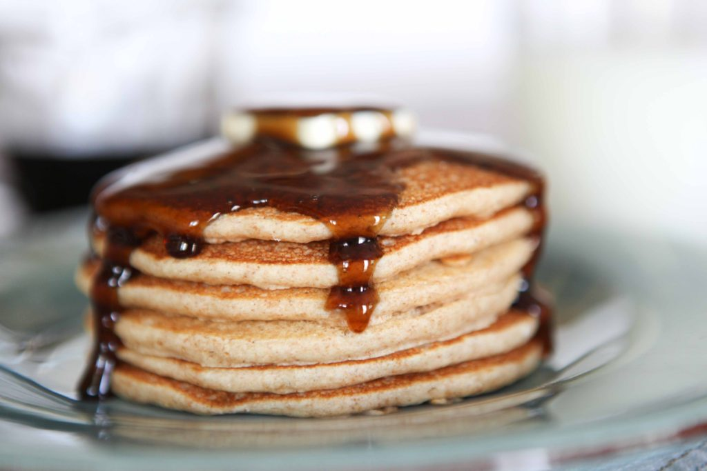 Healthy, Whole Wheat Pancakes. Whole Wheat Hot Cakes
