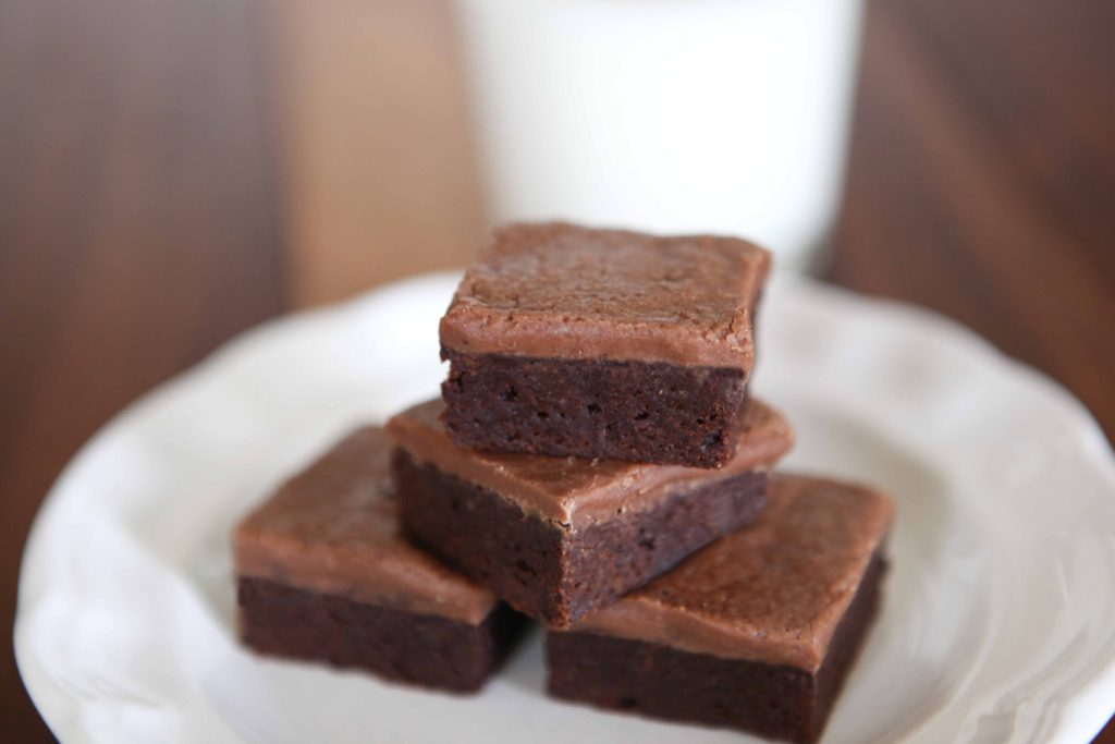 Easy Fudgy Frosted Brownies