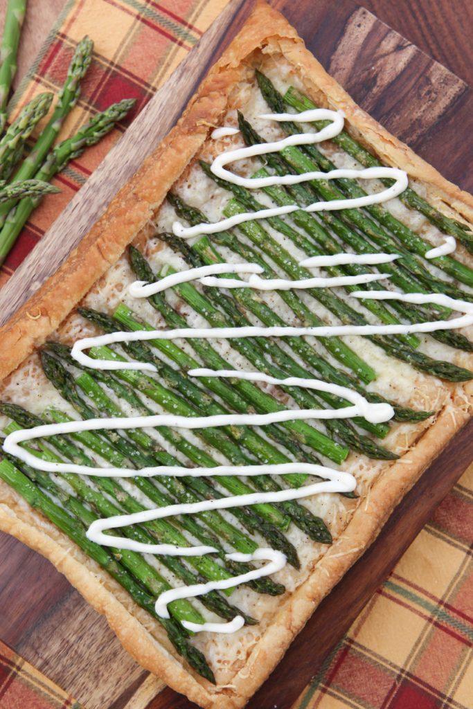 Asparagus and Gruyere Tart with Lemon Butter Sauce