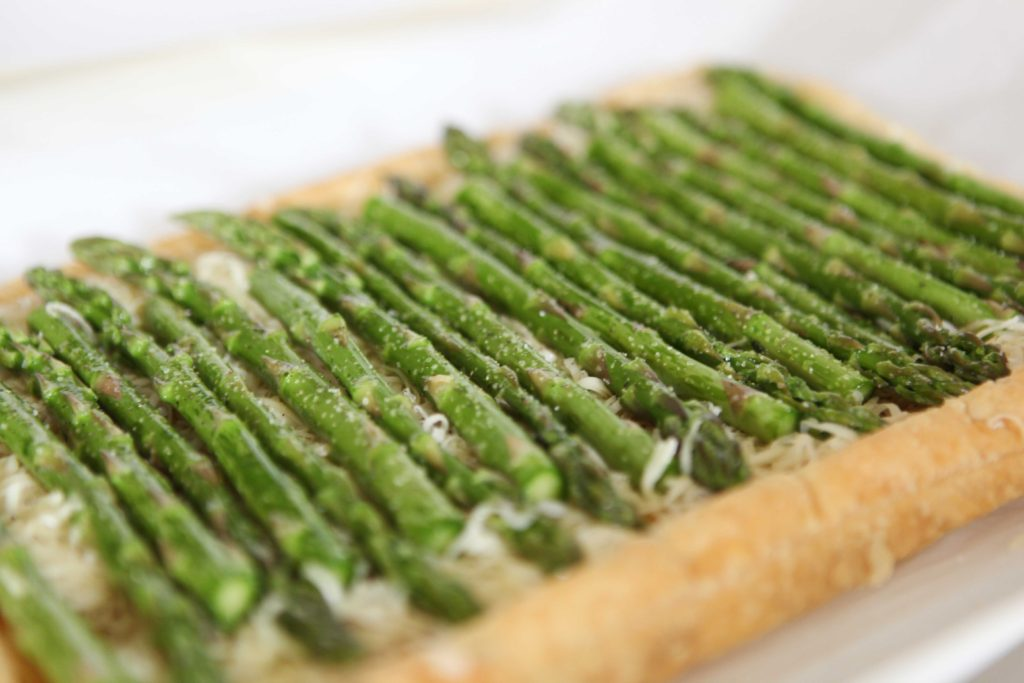 Sprinkle with salt and pepper. Bake until spears are tender, 20 to 25 minutes.