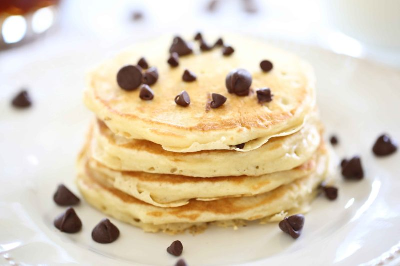Perfecr Chocolate Chip Pancakes