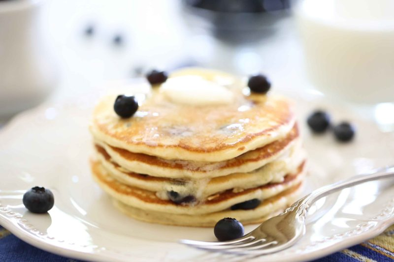 Blueberry Lemon Pancakes with butter