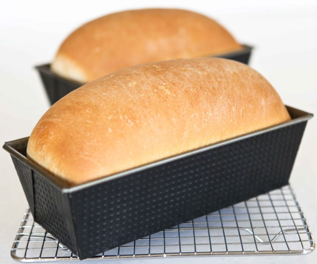Delicious and Easy Homemade White Bread fresh from the oven