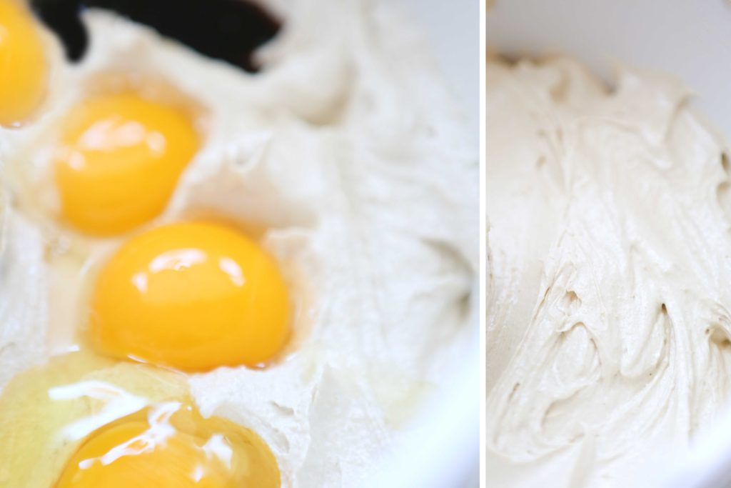 Add the following, and beat for 2-3 minutes. 4 eggs 1 tablespoon vanilla