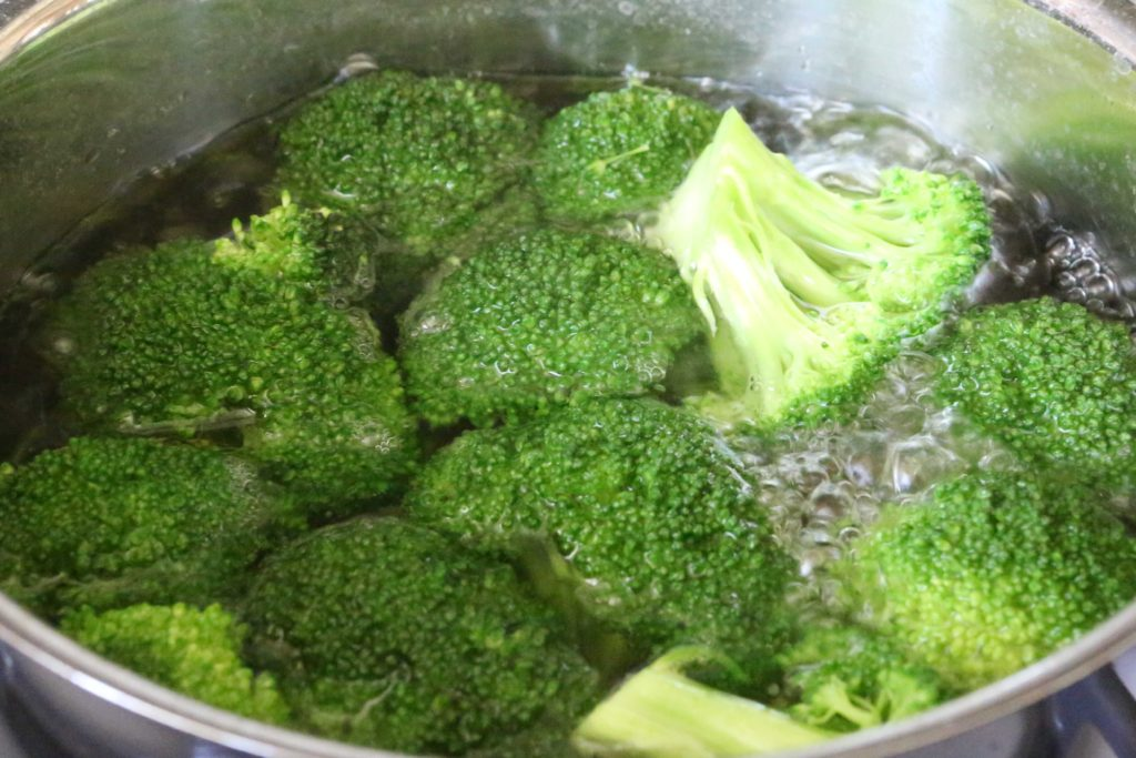 STEP 5. ONLY COOK BROCCOLI UNTIL IT'S TENDER You don't want to overcook it. About 5-7 minutes is perfect. Test it with a fork for tenderness. I stick with exactly 5 minutes.