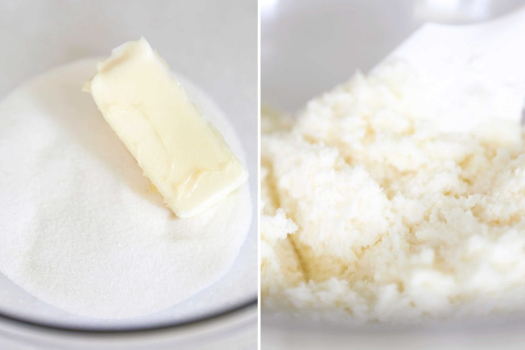 In a large bowl, cream until fluffy 1 cup butter, softened 2 cups granulated sugar