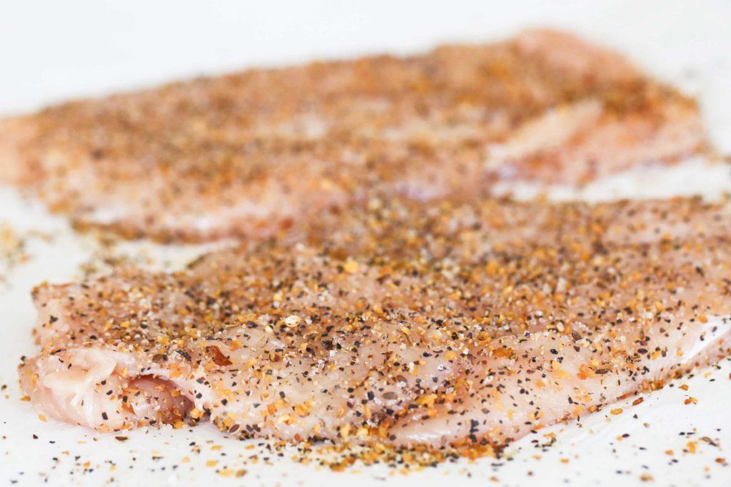 Season both sides with Montreal Steak Seasoning. That's right, Montreal STEAK Seasoning, not chicken.