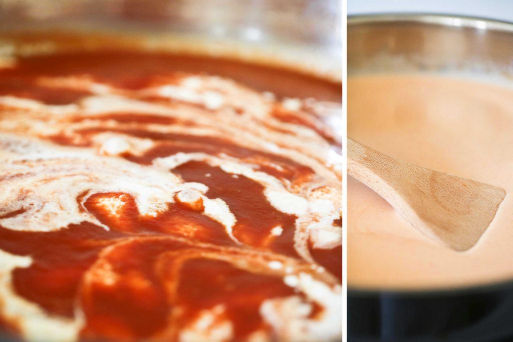 Add 2 cups heavy cream Stir well to combine.