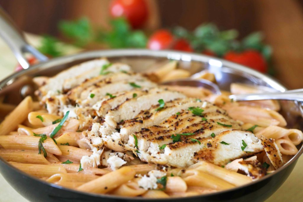 Ryan's Penne and Chicken in Tomato Cream Sauce