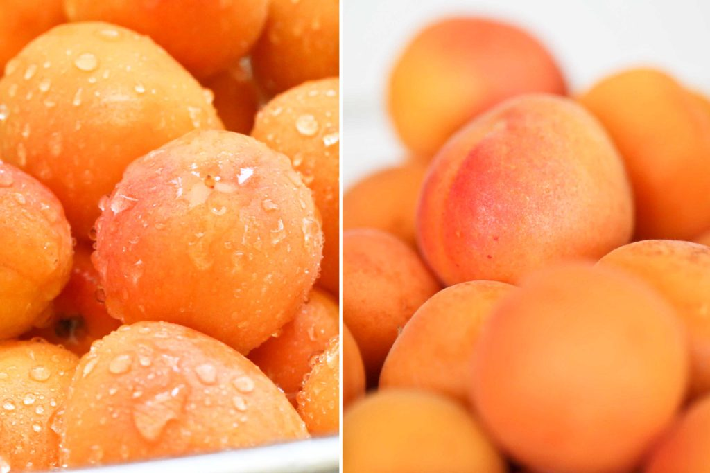 Thoroughly wash and dry apricots.