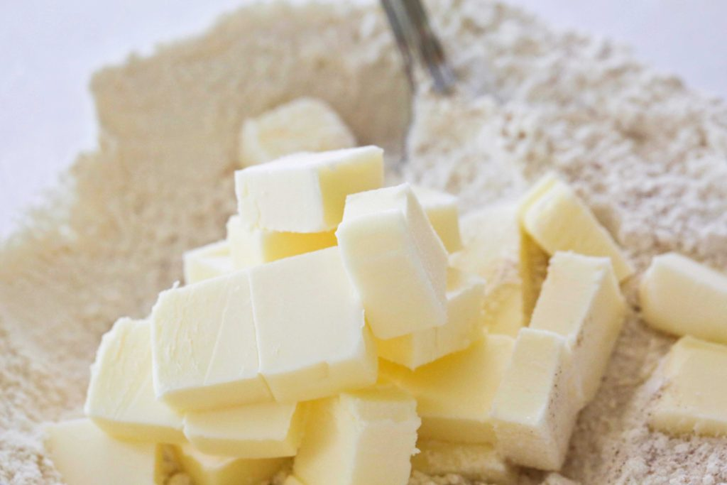 Cut 1/2 cup cold butter into small cubes, and ...