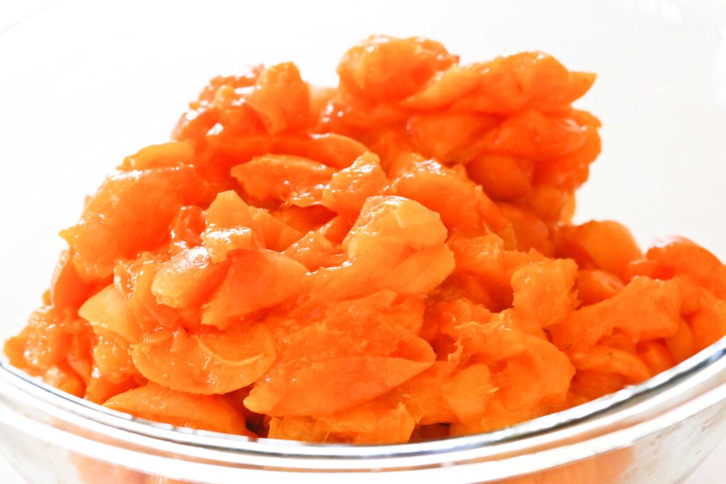 Coarsely chop 2 ½ pounds apricots (5 cups chopped)