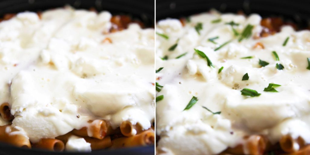 Garnish with fresh chopped basil, and serve immediately.