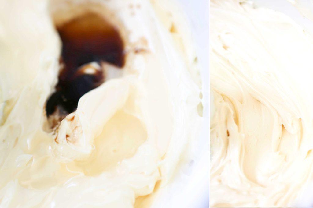 Add 1 teaspoon vanilla 2 tablespoons light corn syrup Mix completely