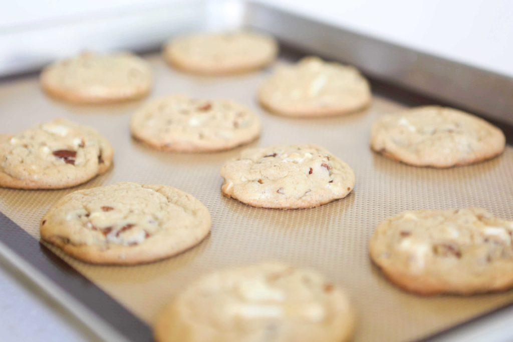 White Chocolate Chunk Pecan Cookies