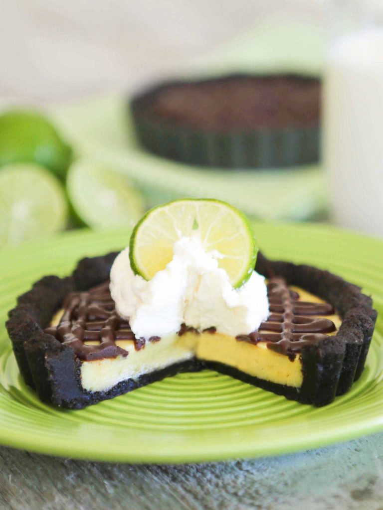 Chocolate Key Lime Tarts