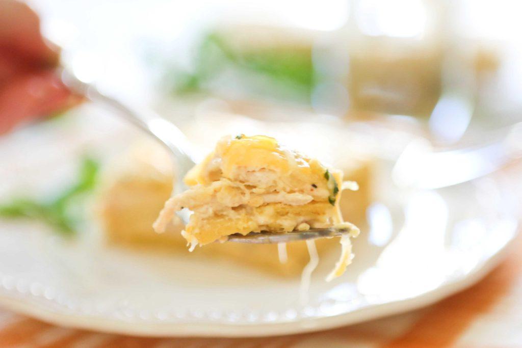 Mexican Lasagna a.k.a. Chicken Enchilada Casserole