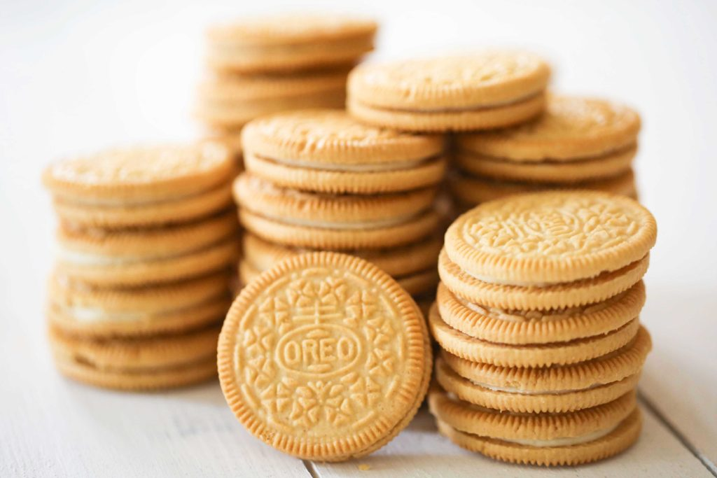 Start with 32 Golden Oreo cookies (13 ounces)