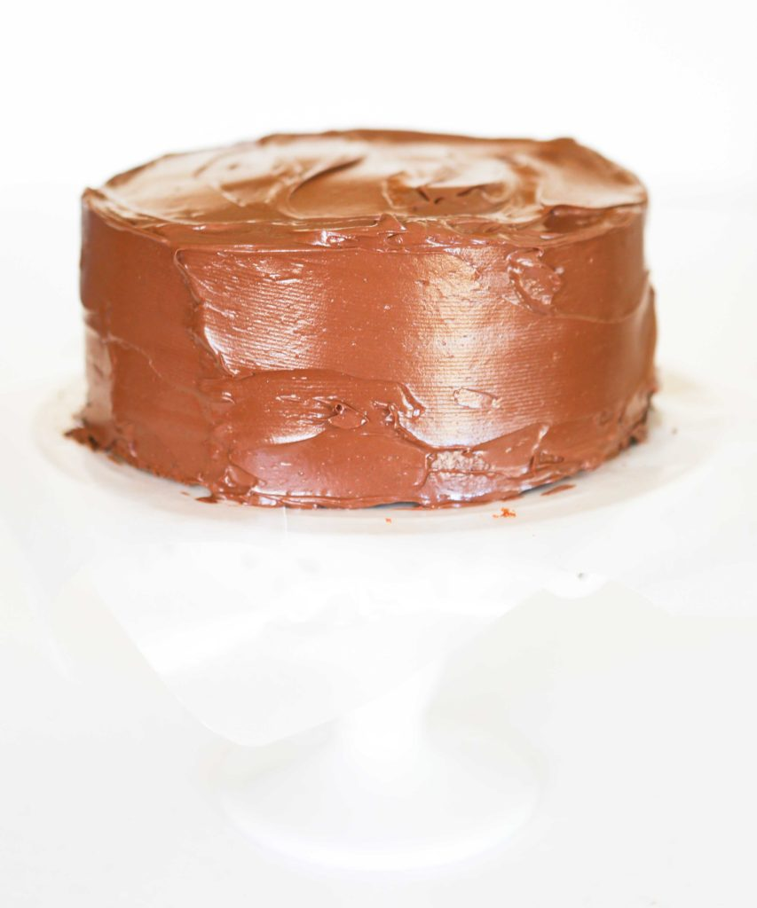 Golden Butter Cake With Chocolate Ganache Frosting