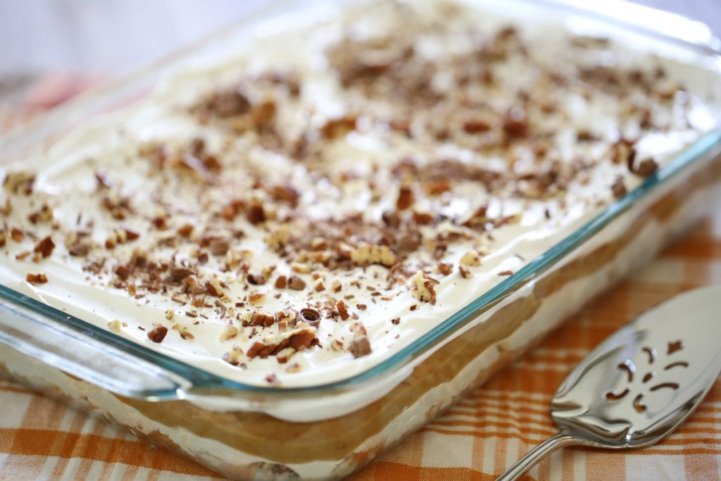 Sensational Spiced Pumpkin Triple Layer Dessert