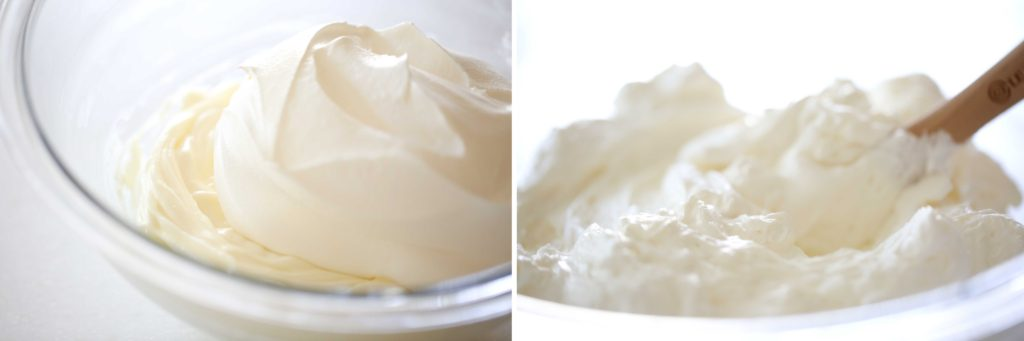 Fold in 1 carton (8 ounces) whipped topping or 1 cup whipping cream, whipped