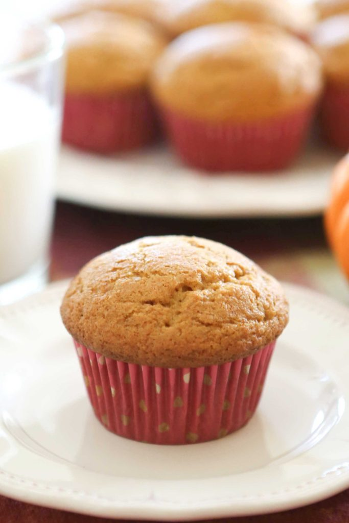 Sweet and Simple Pumpkin Muffins