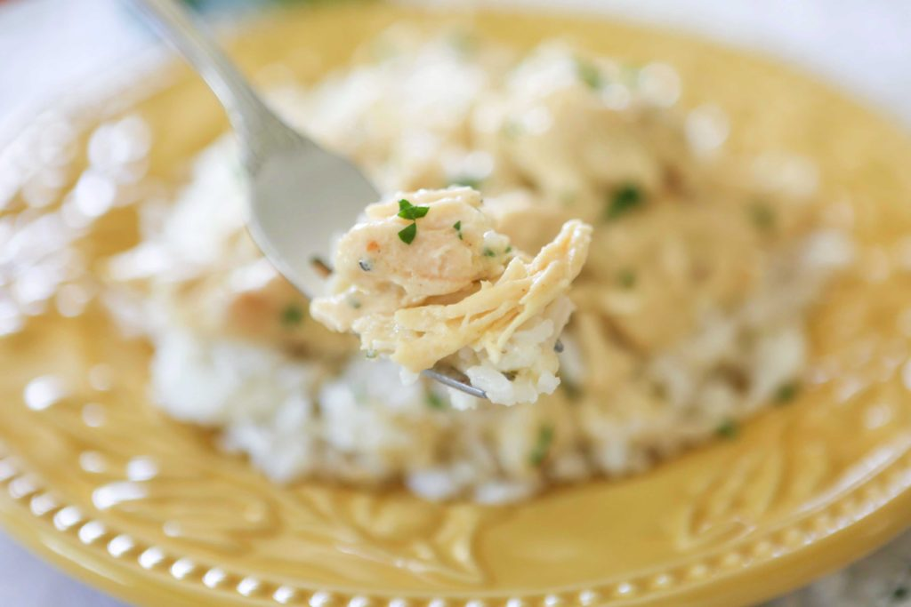 Simple Slow Cooker Cream Cheese Chicken
