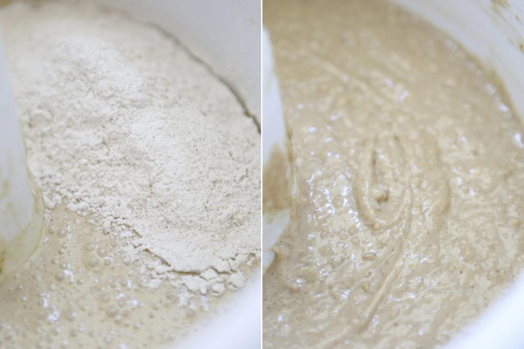 Stir in dry ingredients just until combined.
