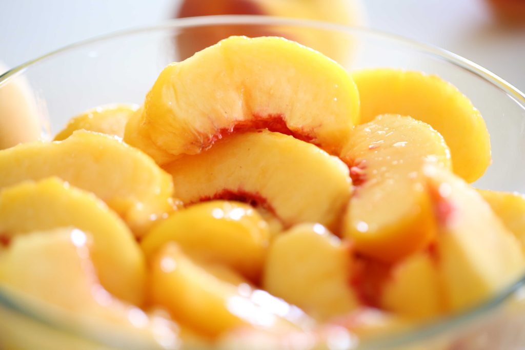 Top with a third layer of peaches, and ...