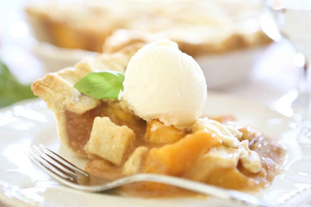 slice of Perfect Peach Pie