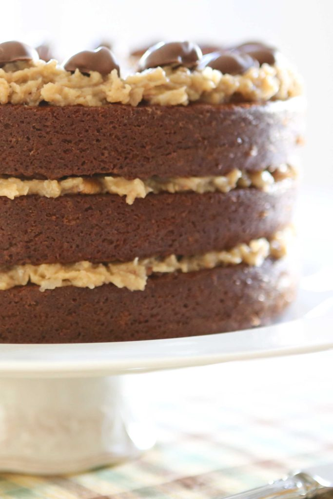 When the chocolate has set, arrange them on top of your cake.