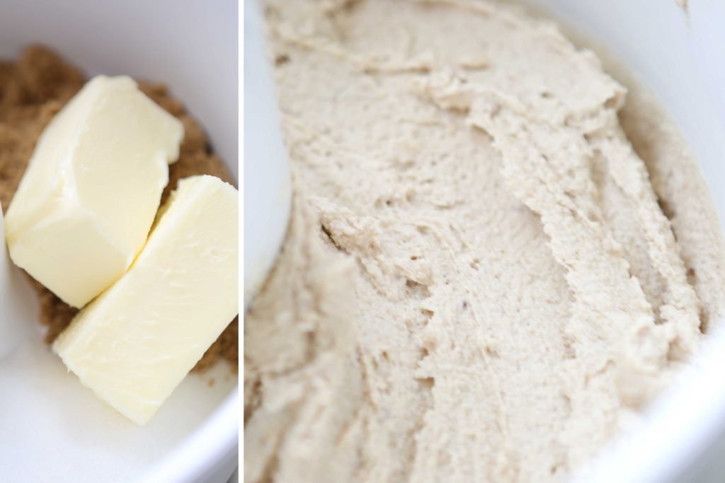 Beat the following until light.: 1 cup butter, softened 1 cup sugar 1 cup brown sugar