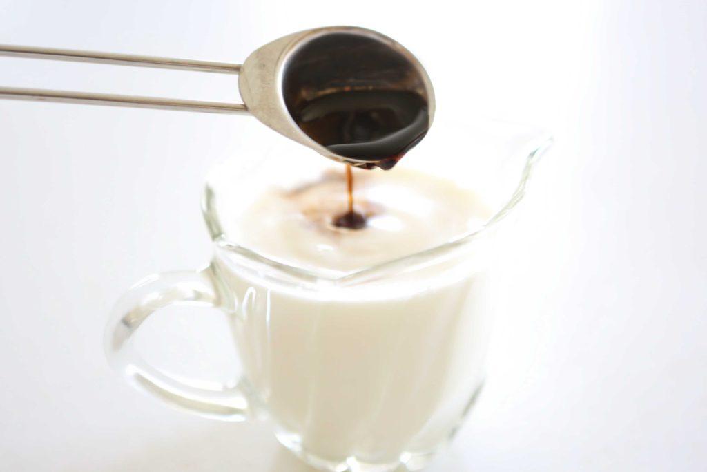Stir together: 1 cup milk 2 teaspoons vanilla
