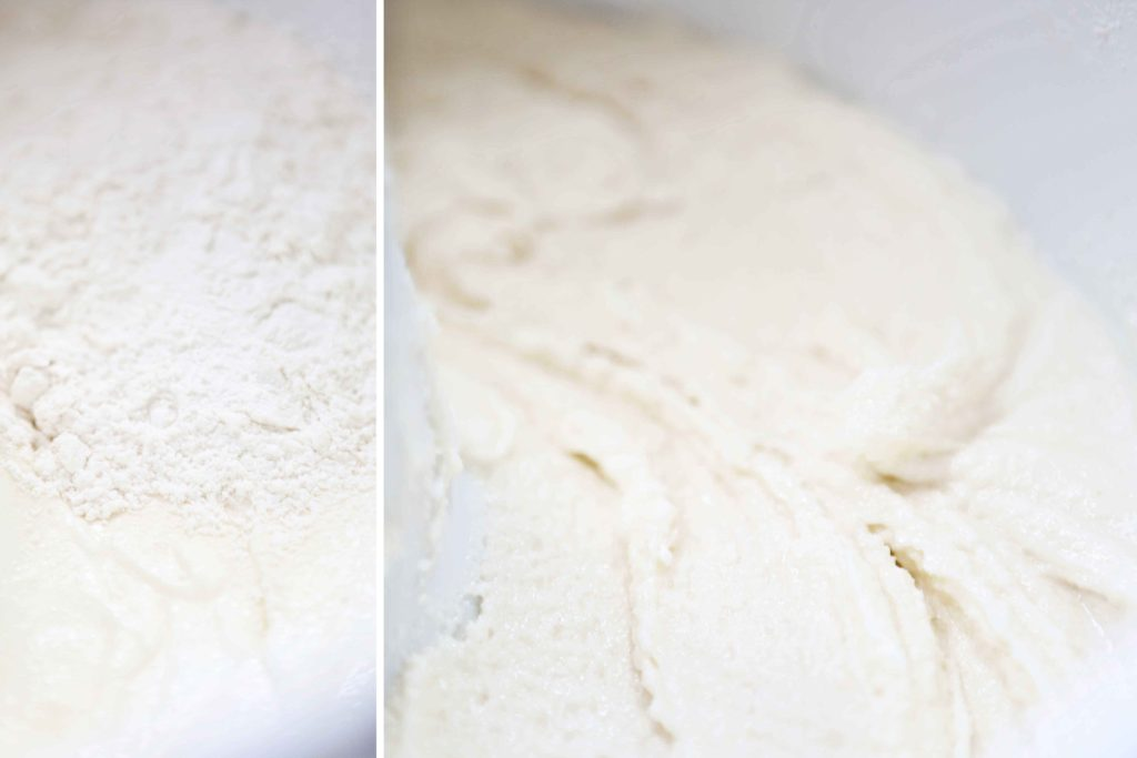 making Sweet Buttercream Peppermint Cake