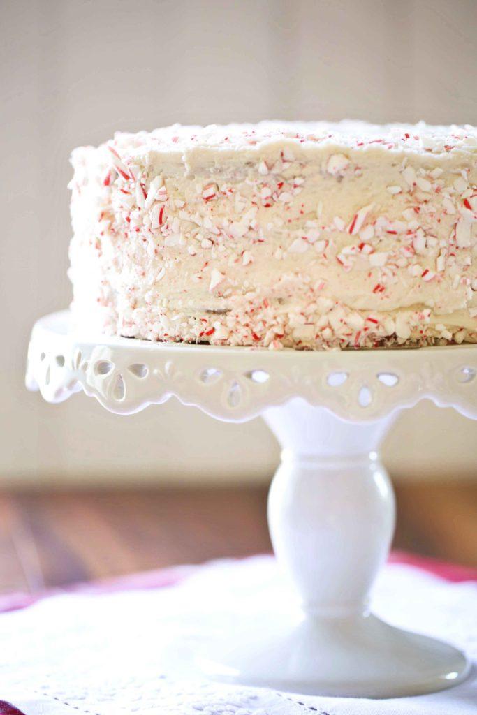 Sweet Buttercream Peppermint Cake