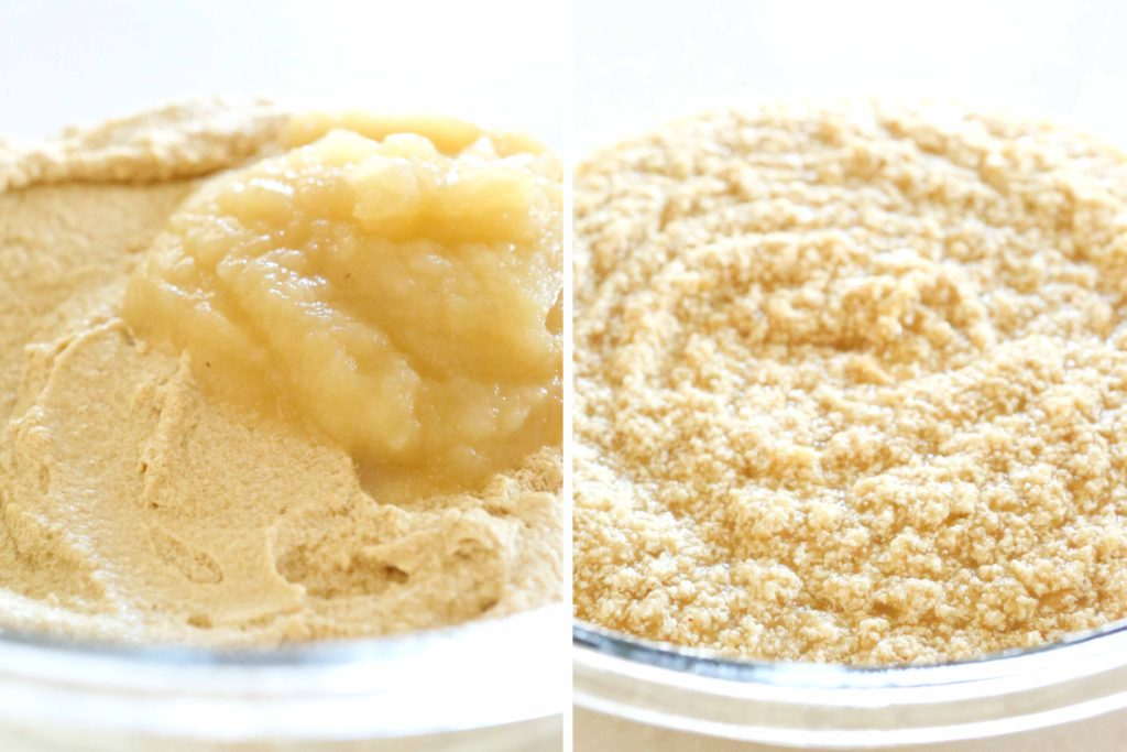 Mix in: 1 cup unsweetened applesauce