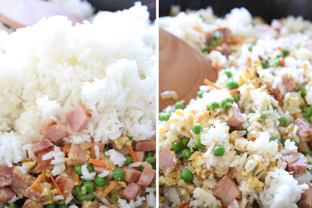 Add 3 cups cooked rice