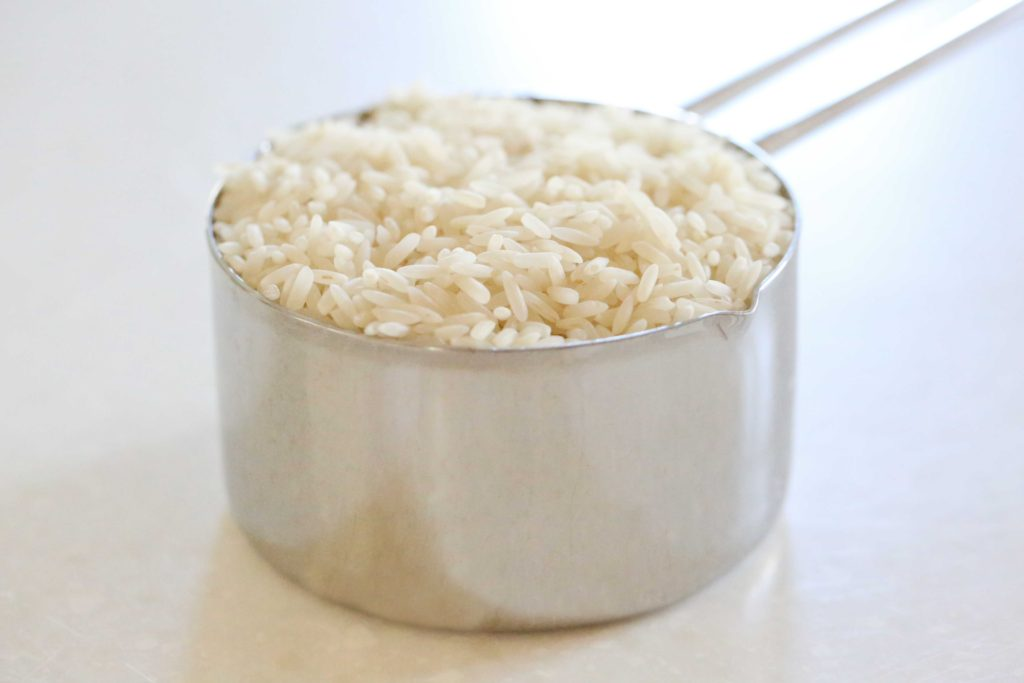 Cook according to package directions: 1 cup raw rice (This will make 3 cups cooked rice)