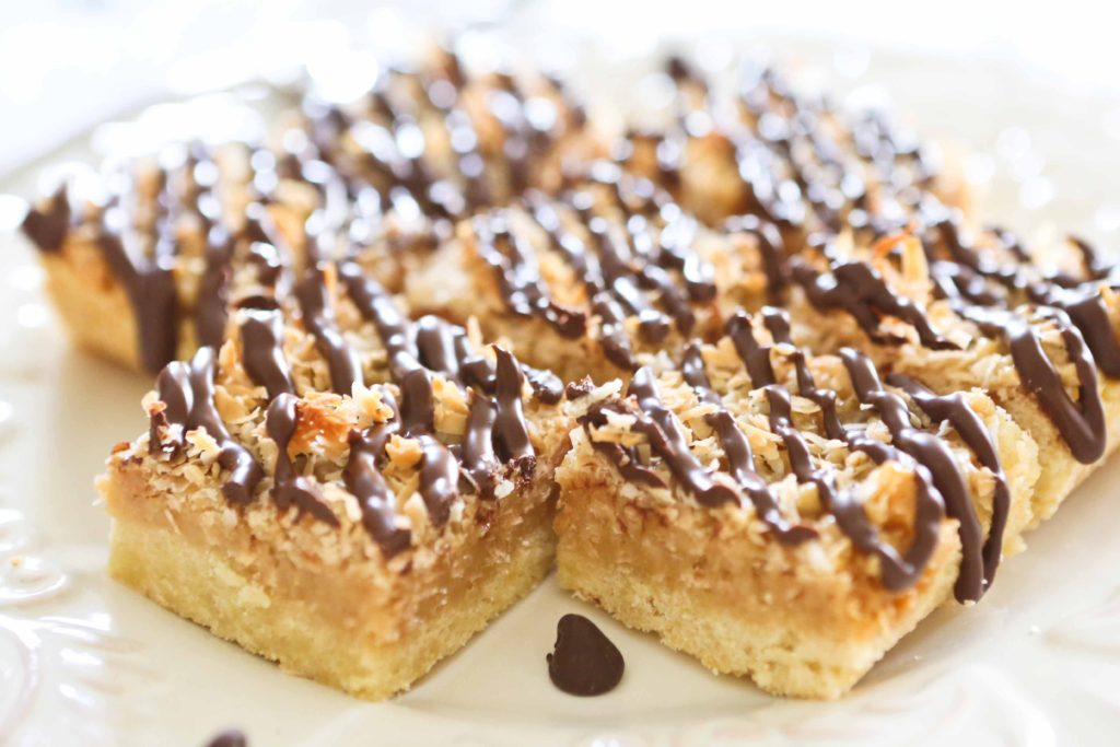 Coconut Caramel Cookie Bars