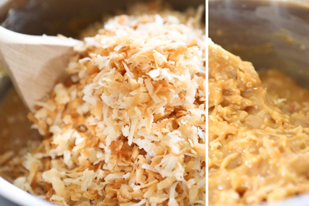 Stir in 2 cups toasted coconut