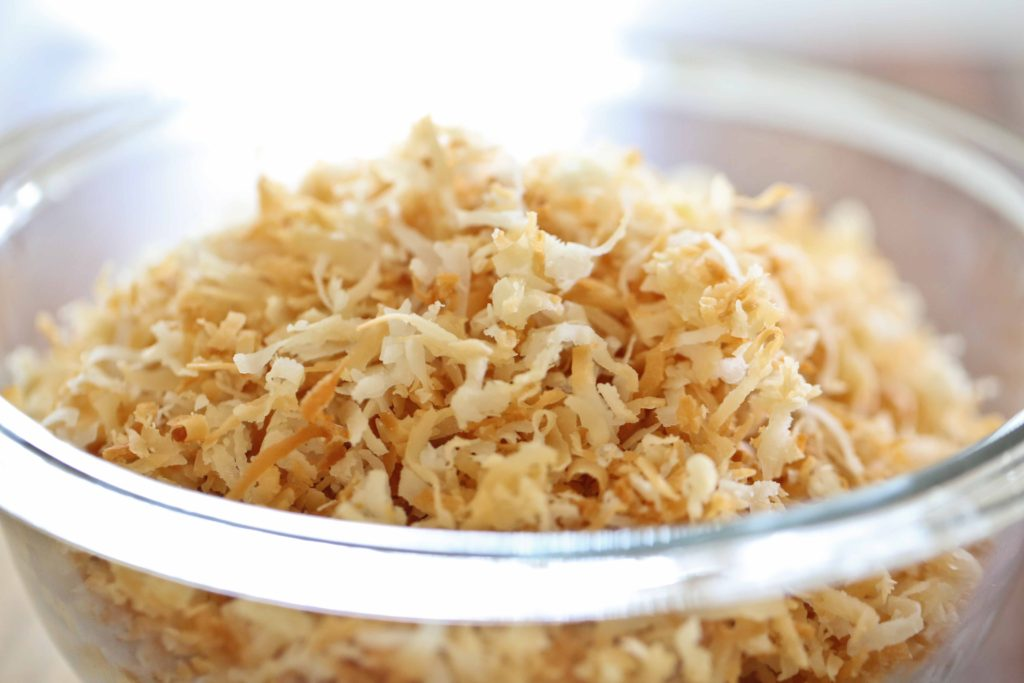 Set the toasted coconut aside, and move on to the next steps.