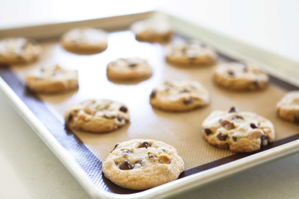 Baked homemade Toll House Chocolate Chip Cookies